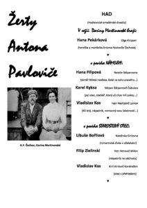 Žerty Antona Pavloviče @ Divadlo Josefův Důl