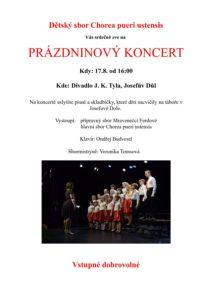 Prázdninový koncert @ Divadlo Josefův Důl